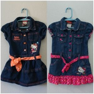 Hello Kitty Toddler Girls 3T Denim Tutu Dress
